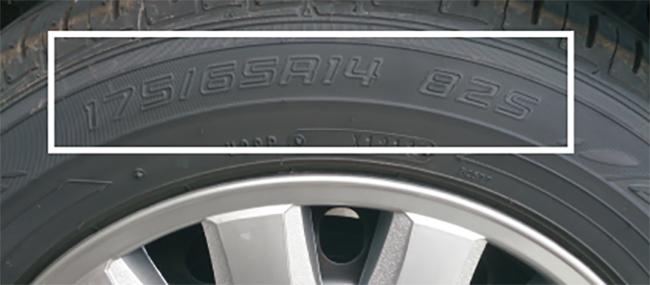 タイヤサイズの見方例